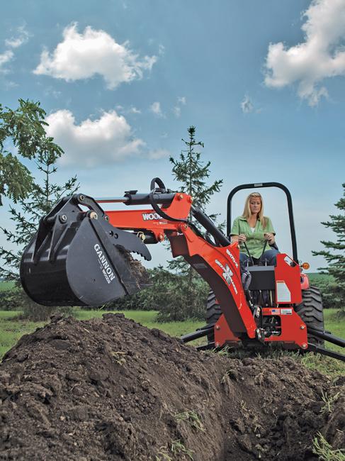 The Tractor Backhoe Combo Compact Equipment