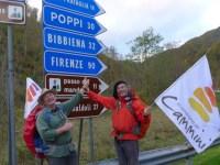 ancora 90 km di cammino fino a Firenze!