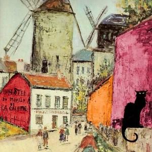 village quartier montmartre