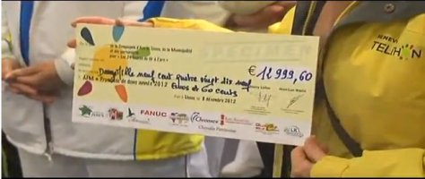 La modeste contribution des archers de Lisses au Téléthon 2012