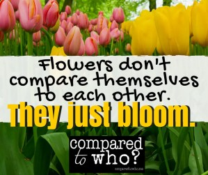 Flowers Don't Compare Themselves They Just Bloom