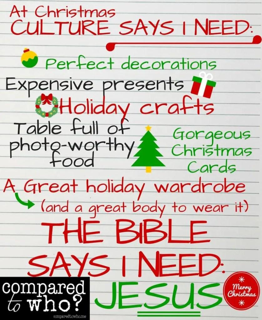 Christmas Culture Says I need