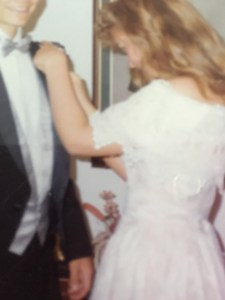 Pinning that boutonniere on was nerve-wracking.