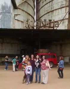 At the Magnolia Silos with my daughter and our friends: Laurel, Brandy & Erin.