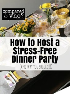host a stress free dinner party