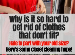 Why is it so hard to get rid of clothes that don't fit?