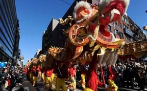 Obchody chińskiego Nowego Roku w Nowym Jorku. |źródło: www.telegraph.co.uk