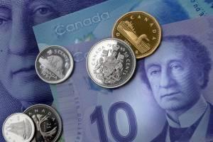 Monety i banknoty dolara kandyjskiego CAD