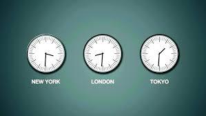 zegarki w różnych strefach czasowych