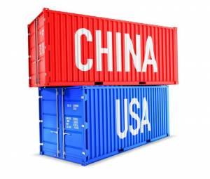 kontenery morskie symbolizujące wojnę handlową pomiędzy USA i Chinami