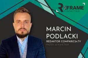 Marcin Podlacki, redaktor Comparic.pl na Reframe Economic Forum na UEK w Krakowie