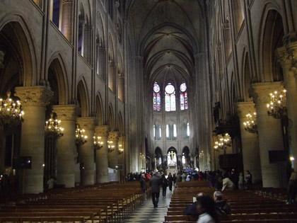 Notre Dame e suas colunas