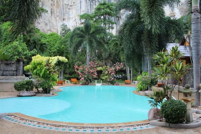 Hotel que nos hospedamos em Railay Beach, na Tailândia, por menos de R$ 50 a diária para casal