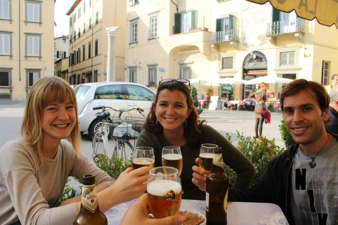 Estéban e Paula, nossos companheiros em Lucca