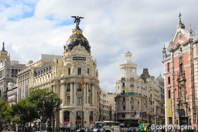 Prédios do centro de Madri