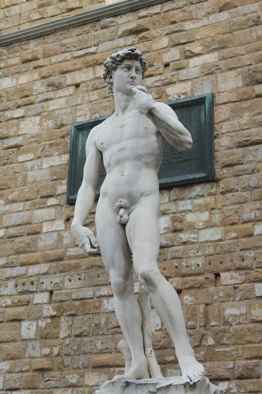 Réplica de David na Piazza della Signoria