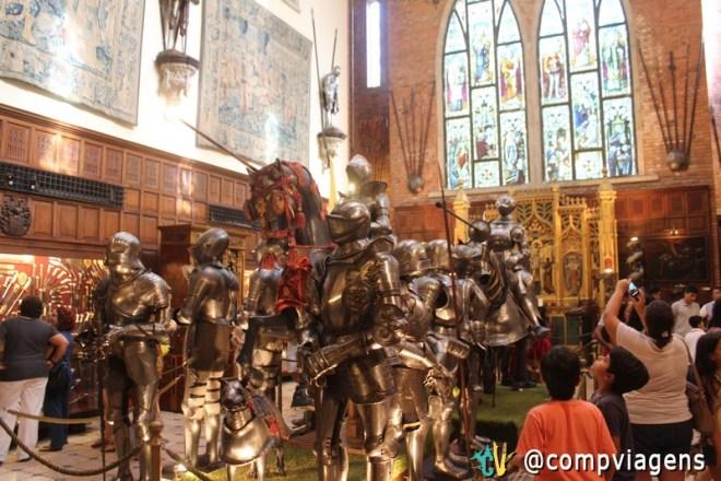 Armaduras em exposição no Castelo São João