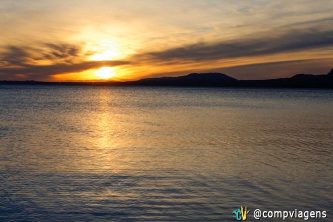 Pôr do sol, na Playa Grande