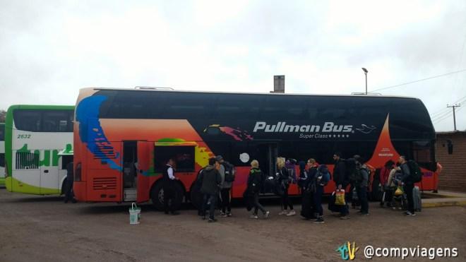 Nosso ônibus da Pullman Bus
