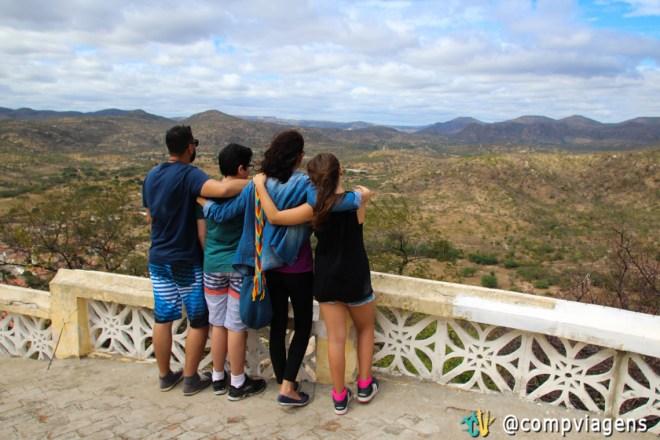 Com os nossos sobrinhos, vista do Monte do Galo