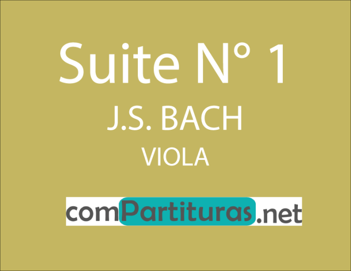 Partitura Suite N° 1 viola