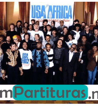 Partitura we are the world