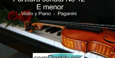 sonata No 12 en E menor