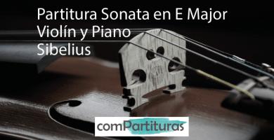 Partitura Sonata en E Major op. 80