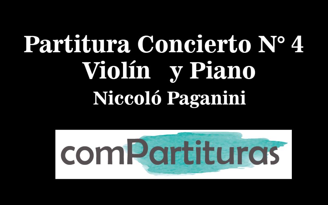 Partitura Concierto N° 4 – Piano y Violín – Paganini