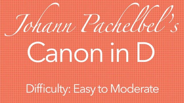Partitura Canon in D