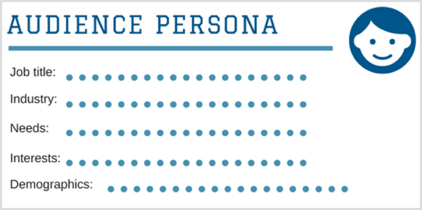 audience persona template