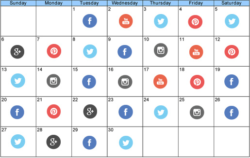 social media marketing plan calendar