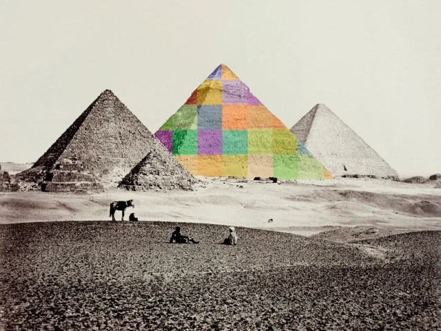 After Francis Frith, Piramide II, 2016 (Piramidi di Giza da sud-ovest, 1858)