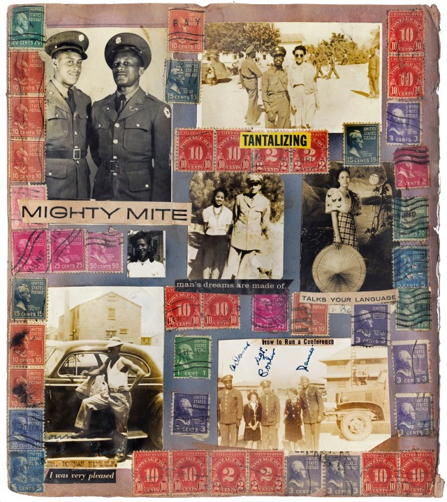 Catalogue of the Year / Winner: Richard H. Bowman, [Military Stamp Scrapbook Album], ca. 1944–1952; Courtesy The Walther Collection. From Imagining Everyday Life: Engagements with Vernacular Photography