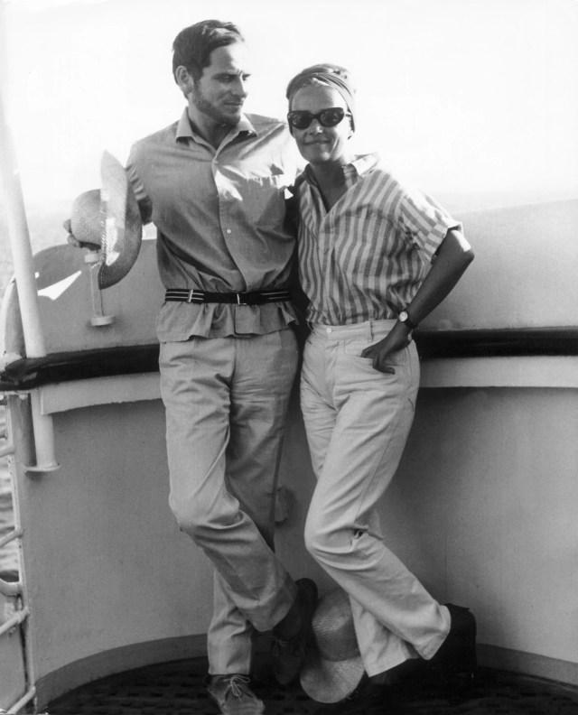 Pierre Cardin e Jeanne Moreau en 1962