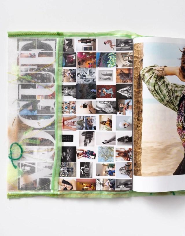 Ludovica Gioscia (interno) Giacchetta affettuosa, 2020 assemblaggio su stoffa con peli del gatto Arturo, foglie di quercia, erba secca, lana Courtesy l'artista