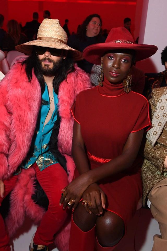Jared Leto e Jodie Turner Smith alla sfilata Gucci, Milano Fashion Week primavera estate 2020