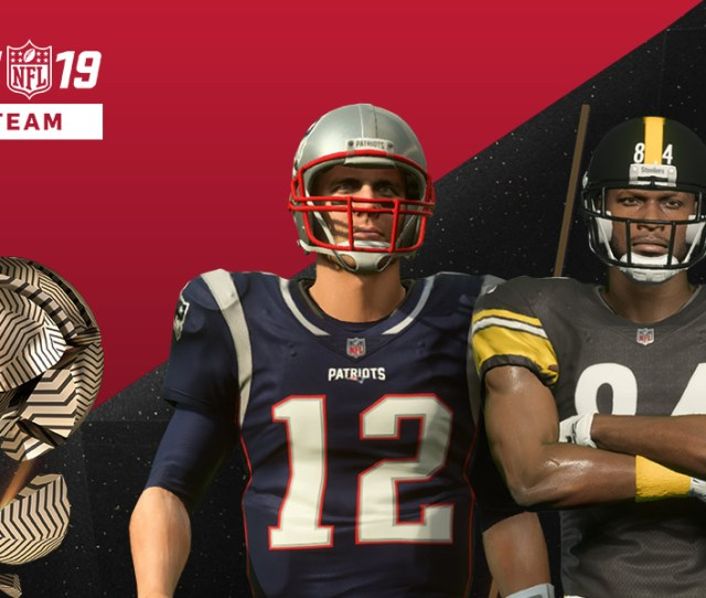 Madden Nfl 19 Ultimate Team Front View Of Tom Brady Antonio Brown And