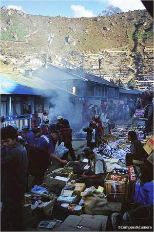 Saturday market in Namche