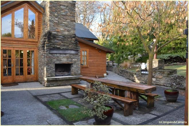 Fireside outdoor dining