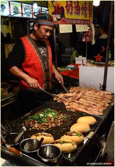 Fried pork belly buns