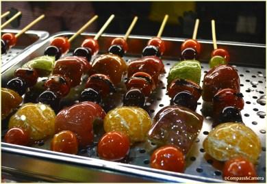 Candied fruit kebabs