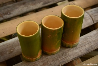 Bamboo drinking glasses