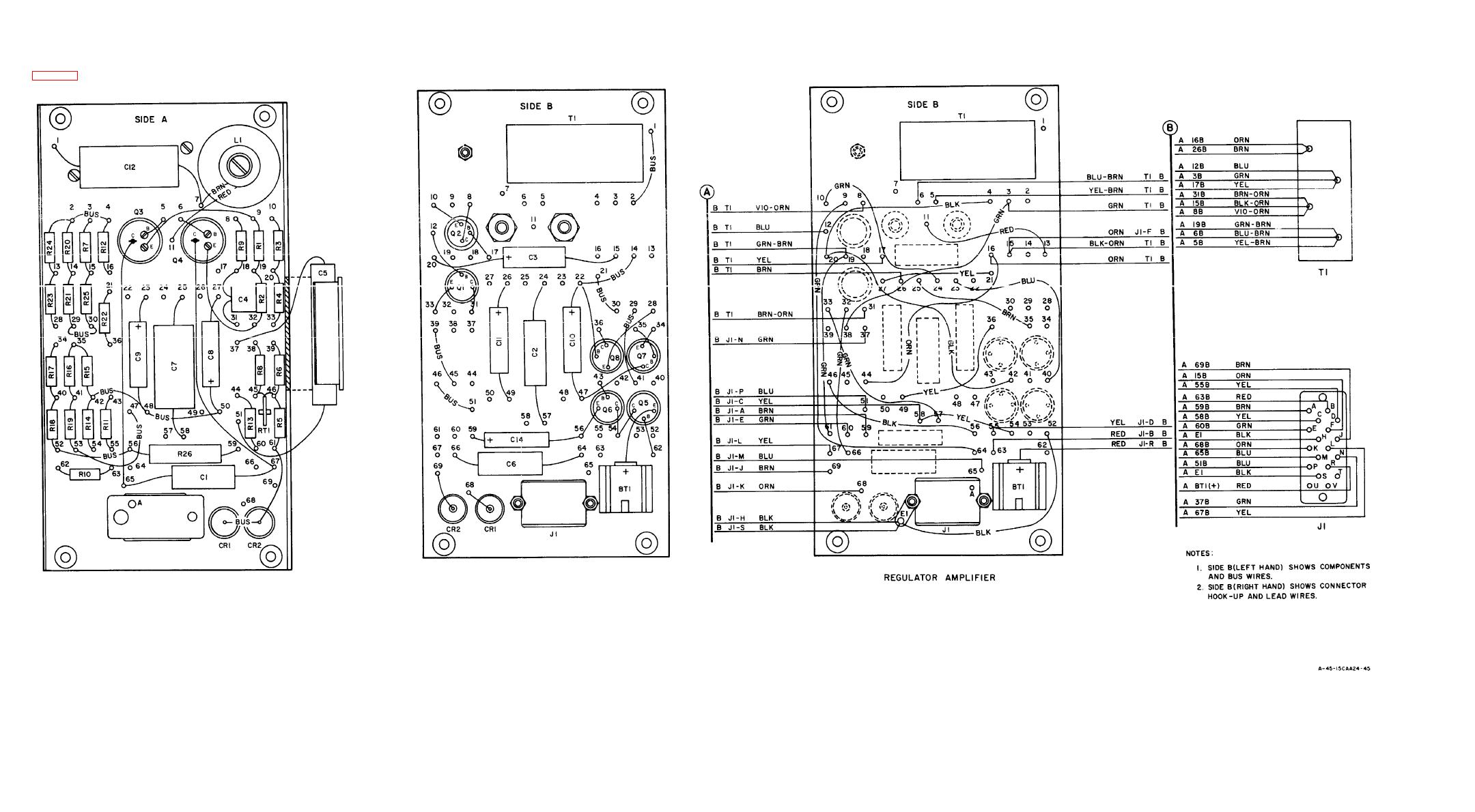Figure 6 13 Regulator Amplifier Wiring Diagram