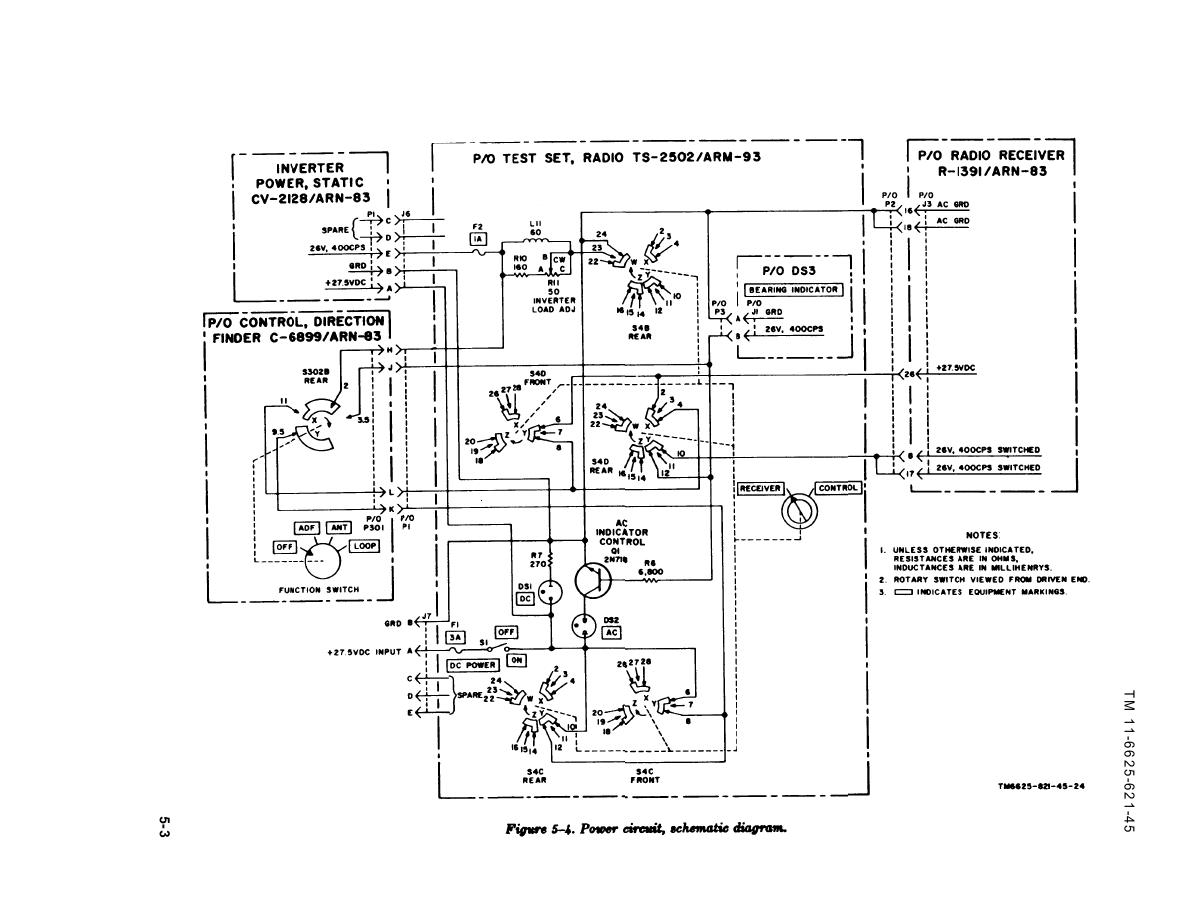 Figure 5 4 Power Circuit Schematic Diagram