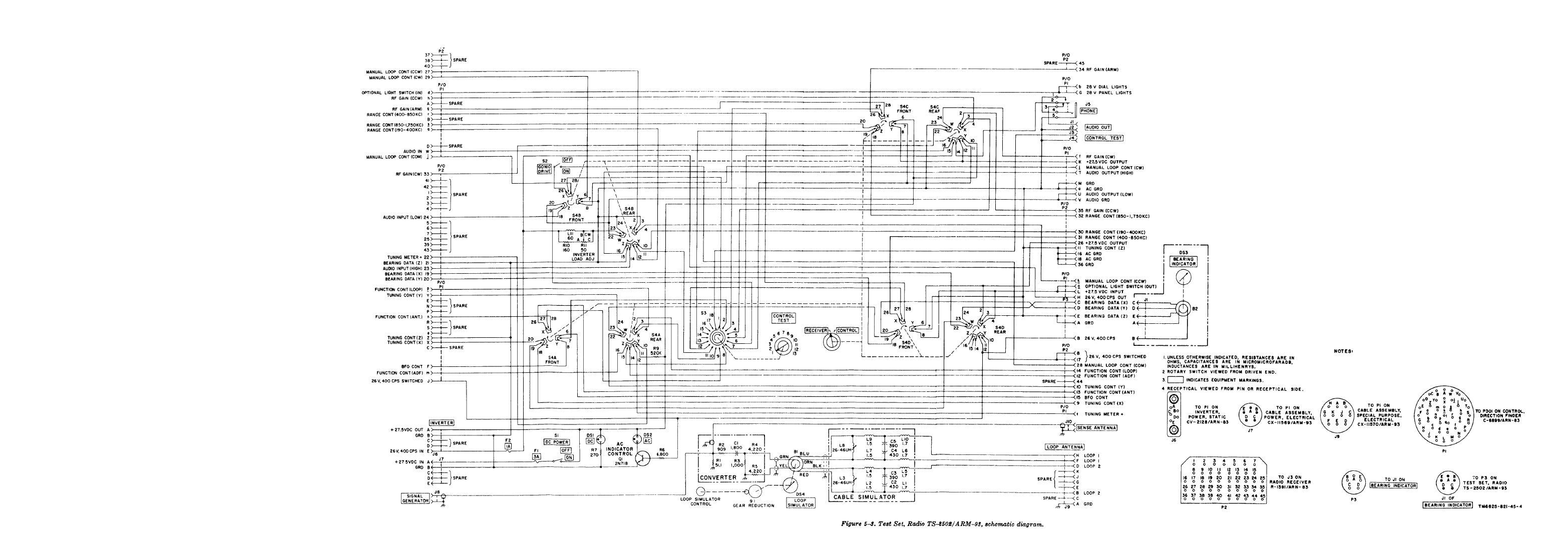 Figure 5 3 Test Set Radio Ts Arm 93 Schematic Diagram
