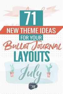 71 bullet journal theme ideas