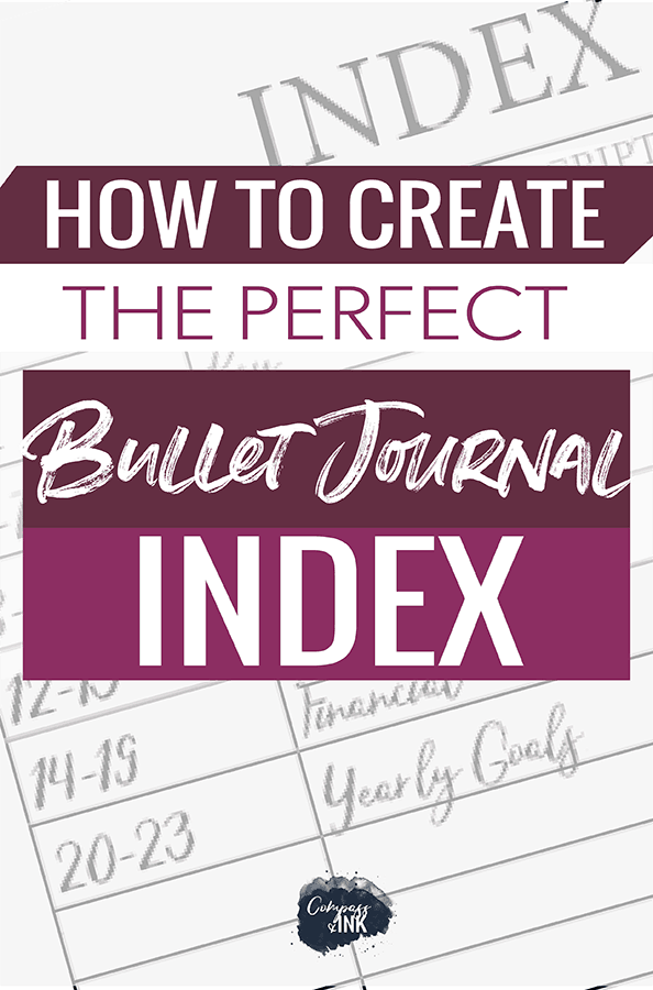 how to create the perfect bullet journal index