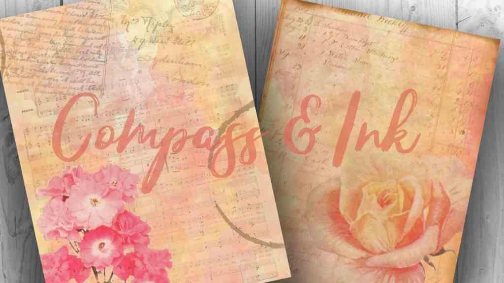 peachy rose junk journal kit