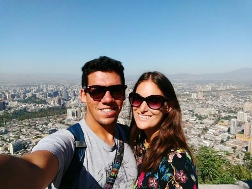 Pete & Antie in Santiago